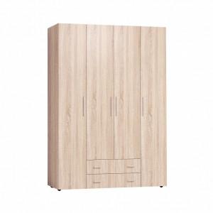 Монако 555 Шкаф для одежды и белья Стандарт (Дуб Сонома)