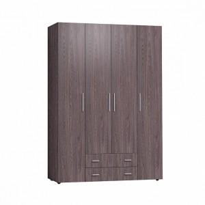 Монако 555 Шкаф для одежды и белья Стандарт (Ясень Анкор темный)