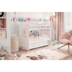 Детская кроватка Эмили белый/друзья