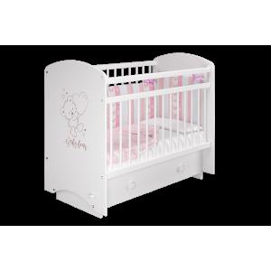 Детская кроватка Эмили Белый/Мишка