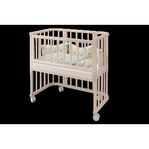 Детская кроватка Эстель приставная трансформер слоновая кость
