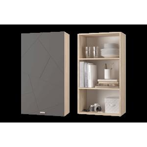 Скайлайн Шкаф настенный для книг (600) дуб санома/графит