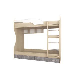 Колибри Кровать 2-ярусная (Ателье Светлое)