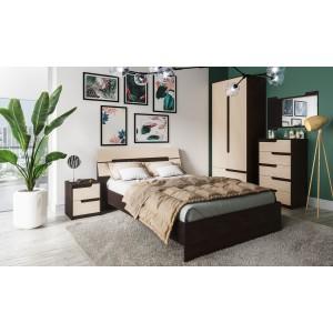Спальня Гавана Комплект 6 (Дуб молочный)