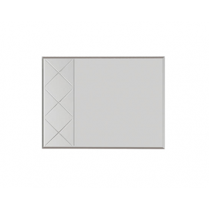 Кимберли Зеркало З-04 ясень белый/белый глянец