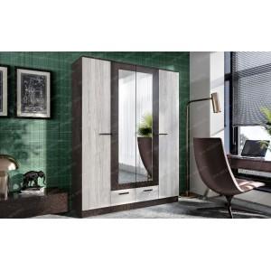 Шкаф 4-дверный Адель (Венге/Лоредо)