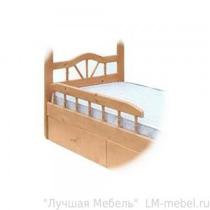 Несъемный бортик с точенками к кроватям ВМК-Шале из массива сосны