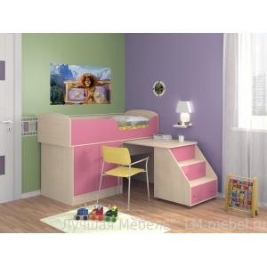 Кровать-чердак Дюймовочка 2 для детей от 1.5 до 10 лет