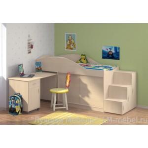 Кровать-чердак Дюймовочка 3 для детей от 1.5 лет до 16 лет (без лестницы)