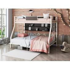 Двухъярусная металлическая кровать Гранада П 140