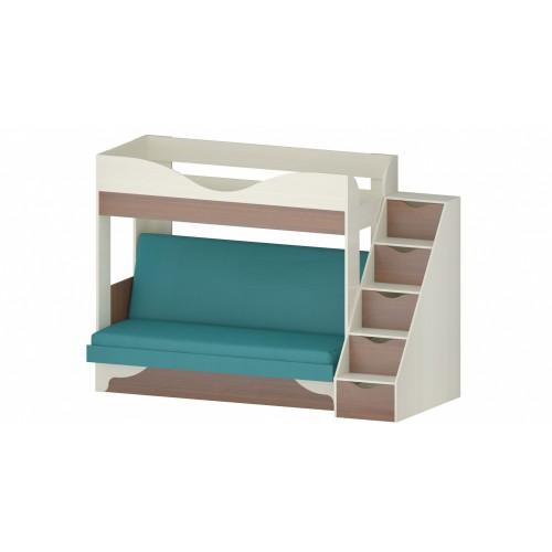 Двухъярусная кровать с диваном Шерри