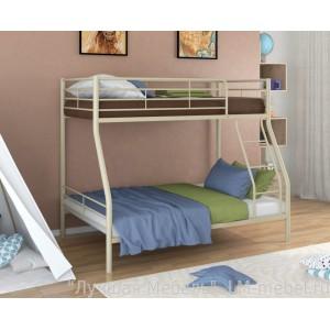 Двухъярусная металлическая кровать Гранада 2