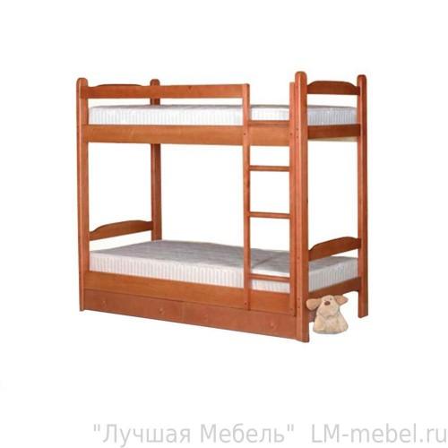 Кровать двухъярусная Антошка из массива сосны