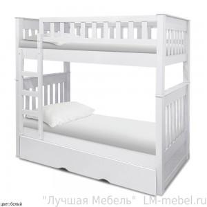Кровать двухъярусная Астрид из массива сосны