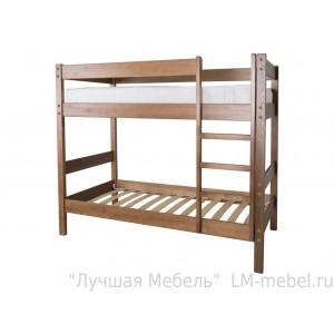 Кровать двухъярусная Дуэт 1 из массива сосны Мебель Холдинг