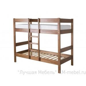 Кровать двухъярусная Дуэт 2 из массива сосны Мебель Холдинг