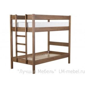Кровать двухъярусная Дуэт 3 из массива сосны из массива Мебель Холдинг