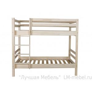 Кровать двухъярусная Ладушка 1 из массива сосны Мебель Холдинг