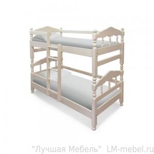 Кровать двухъярусная Нуф-Нуф из массива сосны
