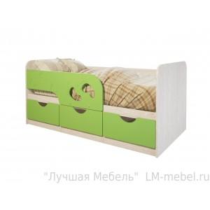 Кровать детская Минима Лего Лайм глянец