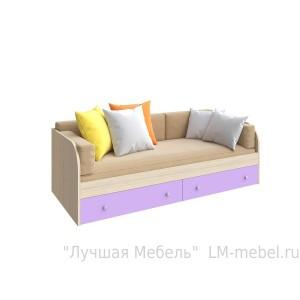 Кровать одноярусная Астра с ящиками РВ-мебель