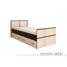 Кровать Сакура с ящиками BTS