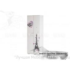 Шкаф двухдверный для одежды Трио ШК-09 (Бонжур/Белый) BTS