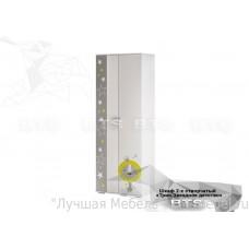Шкаф двухдверный для одежды Трио ШК-09 (Звездное детство/Белый)