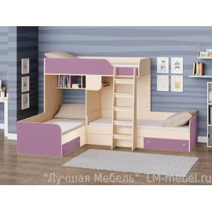 Трехместная кровать Трио РВ-Мебель