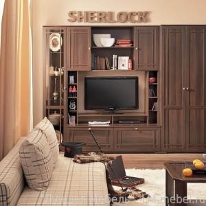 Шкаф стеллаж МЦН Sherlock 1 (Орех шоколадный)