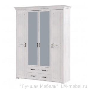 Шкаф четырехдверный с ящиками Афродита 02