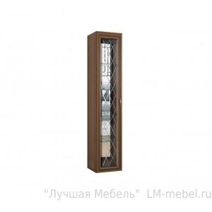 Шкаф пенал витрина надставной Ливорно ЛШ-7 (Орех донской)