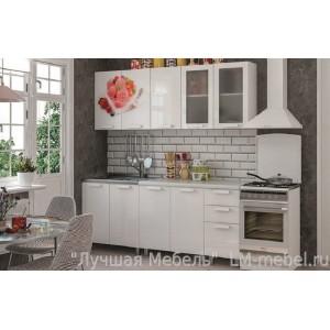 Кухня Айс -крим (белый глянец) 2,0м готовый комплект BTS