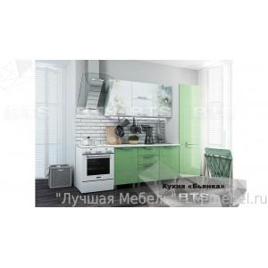 Кухня Бьянка 1,5 Комплект (Салатовый)
