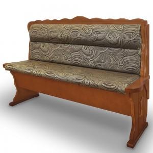 Прямой кухонный диван Шерлок из массива сосны