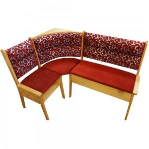 Угловой кухонный диван Кристофер с резьбой из массива сосны