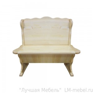Прямой кухонный диван Шерлок (без обивки) из массива сосны
