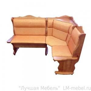 Угловой кухонный диван Себастьян с баром из массива сосны