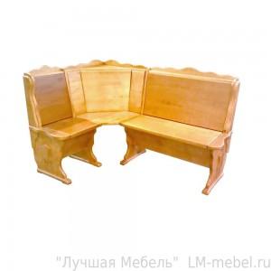 Угловой кухонный диван Шерлок (без обивки) из массива сосны