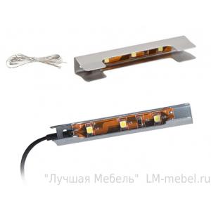 Доп.модуль №4 (к шкафу мод.20 и мод.3-2 комплекта) подсветка голубой свет (комплект на 4 полки)