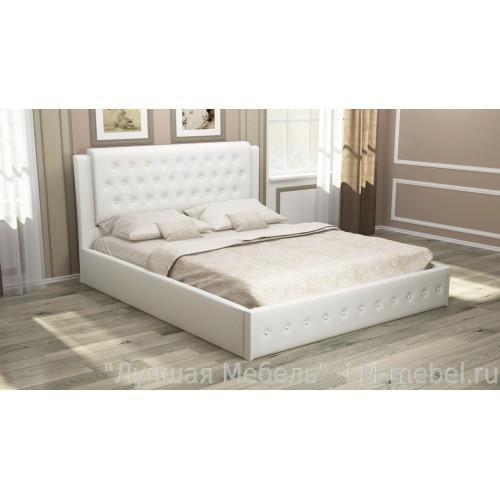 Мягкая кровать София с подъемным механизмом (Вайт)