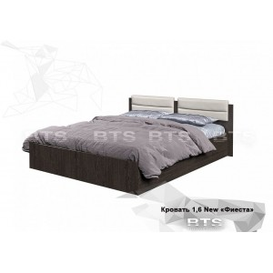 Кровать Фиеста на 160 с мягким изголовьем NEW
