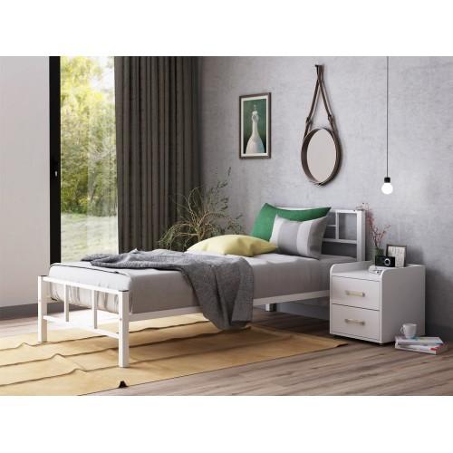Кровать односпальная Кадис металлическая