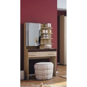Стол туалетный Либерти СТ-01 с зеркалом, полками и ящиком