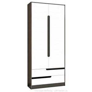 Шкаф двухстворчатый Гавана (Венге/Акрил белый)