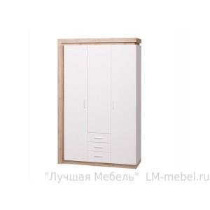 Шкаф 3-х дверный 3 ящика Люмен 15 Ижмебель