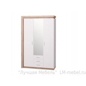 Шкаф 3-х дверный с зеркалом 3 ящика Люмен 15 Ижмебель
