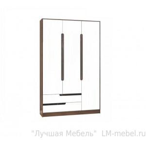 Шкаф 3-х створчатый Гавана (Венге/Акрил белый)