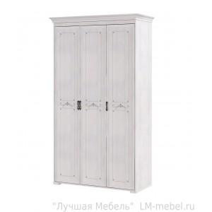 Шкаф для платья и белья трехдверный Афродита 06