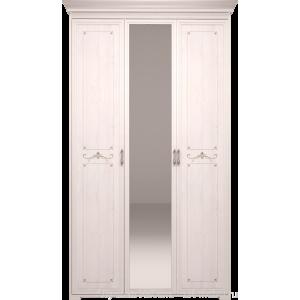 Шкаф для платья и белья трехдверный с зеркалом Афродита 06
